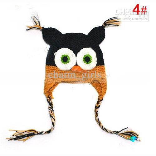 Baby Owl EarFlap Crochet Hat Baby Handmade Crochet Hat Hecho a mano OWL Beanie Knitted hat kungfuboy