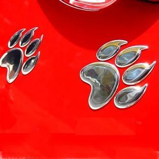 50PR / 3D PVC pata do gato da pata Do Carro Engraçado adesivos de carro e Decalques 7 cm adesivos de Carro auto decalques