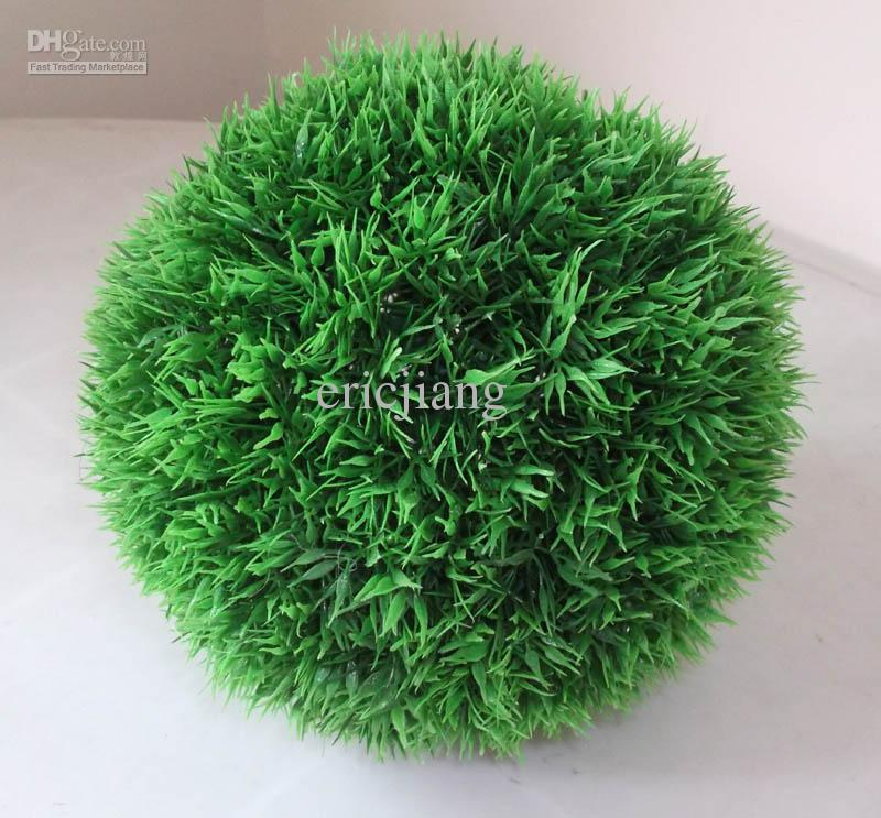 Artificial plastic grass ball boxwood ball buxus ball wedding home party decoration 27cm diameter