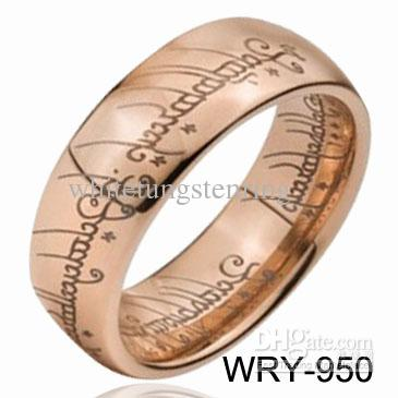 Lotr Tungsten Rings Tungsten Ring Rose Gold Lord Of Tungsten Rings
