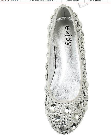 On Sale Silver Red Black Crystals Flat Heel Perfect custom made wedding evening shoes dress shoes