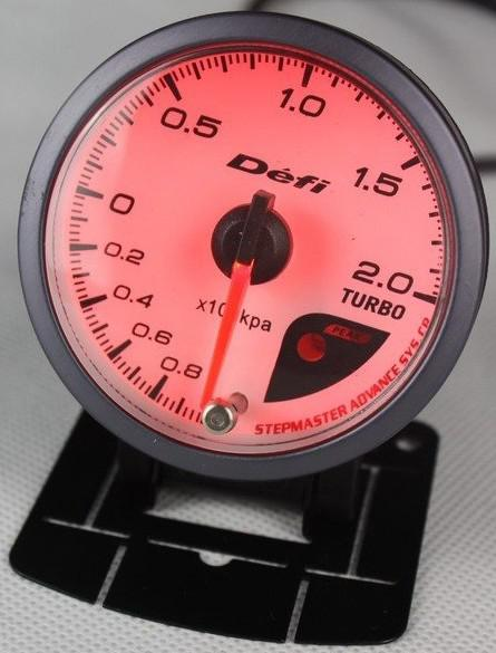 best selling NEW 60mm DEFI Style of Meter CR Stepper Motor BOOST TURBO BAR GAUGE  WITH SENSOR Gauge Auto Meter