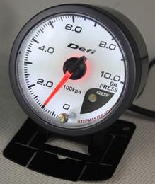 Wholesale Meters Sensor - NEW 60mm DEFI Style of Meter CR Stepper Motor OIL PRESSURE GAUGE  WITH SENSOR Gauge Auto Meter