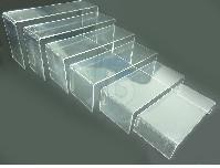 Wholesale Clear Acrylic Necklace Display - CLEAR ACRYLIC DISPLAY RISER SHOWCASE STAND   12pcs