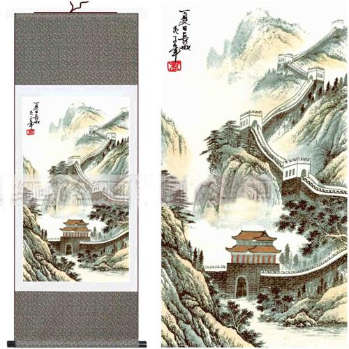 Chinese Wall Art Paintings Silk Hanging Scroll Landscape History L100 X W  35cm Free Online With $40.44/Piece On Zuotangu0027s Store | DHgate.com