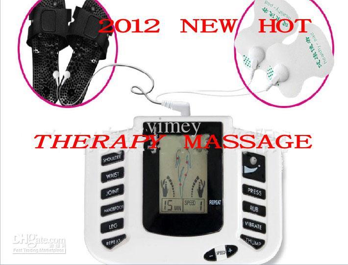 Massager de thérapie de muscle de relaxation de corps complet de stimulateur électrique, impulsion dizaines d'acuponcture avec la pantoufle
