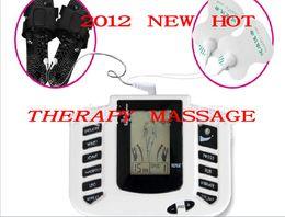 Chinelos estimuladores elétricos on-line-O corpo completo do Stimulator elétrico relaxa o Massager da terapia do músculo, acupunctura dos pulsos 10 com deslizador