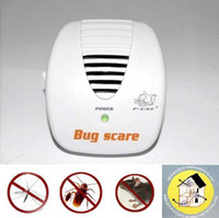 Wholesale Pest Scare - High Coverage Smart Bug Scare Ultrasonic Electrical Mouse Rat Pest Repeller 24 Hour Protection -2pcs
