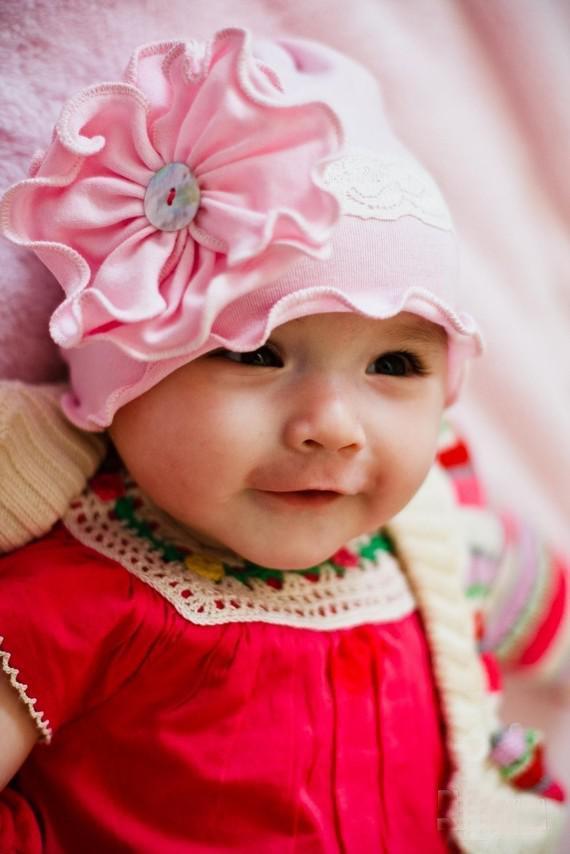 En Bebek şapka kızların şapka çocuğun şapka kafa moda kapaklar çiçek bere kapaklar 10 adet / grup