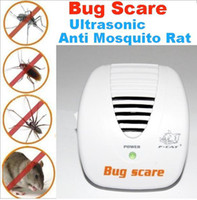 Barato Ultra-som Para Erro-Ultrasonic Anti Mosquito Mouse Rato Pest Control Repeller 24 Hour Protection Bug Scare + Free Shipping