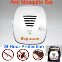 Barato Ultra-som Para Erro-Frete Grátis Smart Bug Scare Ultrasonic Electrical Mouse Rat Pest Repeller 24 Hour Protection 3pcs