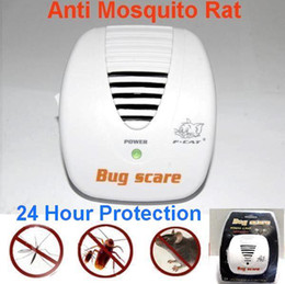 Wholesale Pest Scare - Free Shipping Smart Bug Scare Ultrasonic Electrical Mouse Rat Pest Repeller 24 Hour Protection 3pcs