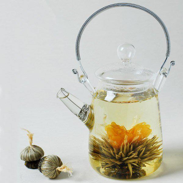 Ekran Emzik ile Çiçeklenme Çay Için Cam Çay Potu-300 ml demlik su ısıtıcısı teakettle