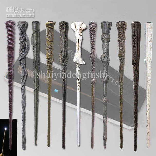 Online cheap wholesale the newest harry potter magic wand for Led wands wholesale
