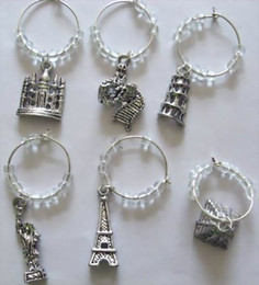 $enCountryForm.capitalKeyWord Canada - 50 Sets Retro Silver Beads Wine Glass Charms World Interest Place Club Party Decoration Prom Gift