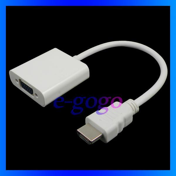 Cavo da VAG a HDMI bianco Cavo adattatore da convertitore Video maschio da VGA a HDMI maschio