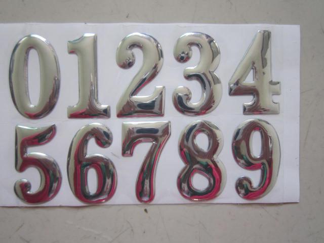 100 pçs / lote 3d Figura Barato decalques do carro 4 * 2.5 cm adesivos para carros gráficos de PVC para carros