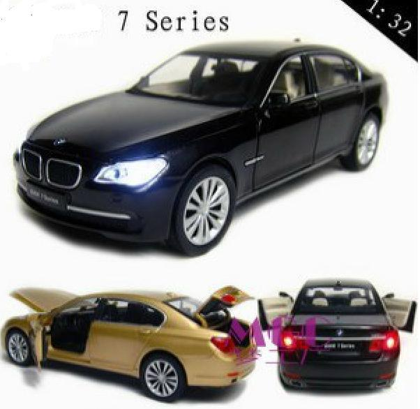 132 scale 750li alloy model car toys children kids cars toy open doors with light sound