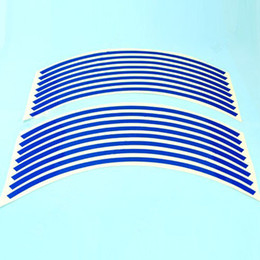 Wholesale Suzuki Blue Decals - Free shipping Blue Stripes Sticker Wheel Decal Tape For Suzuki GSXR