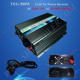 Wholesale Grid Tied Solar System - For DC 12V Solar Panel Home System, Micro 500w On Grid Tied Solar Inverter, AC output 190V~250V