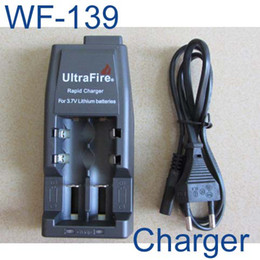 Batterie europee online-Caricabatteria Ultrafire WF-139 nuovo di zecca europeo USA europeo per 18650 batteria ricaricabile