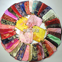 Wholesale Silk Cloth Drawstring Bags - Cheap Handmade Small Silk Fabric Drawstring Bag Jewelry Storage Pouch Wholesale Cloth Gift Packaging Coin Pocket 200pcs lot Free shipping