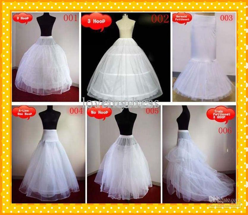 Stock 2021 Heiße A-Line Ballkleider Meerjungfrau 1 Hoop Zug Unterrock Petticoats Hochzeit Braut billig Petticoat für Brautzubehör