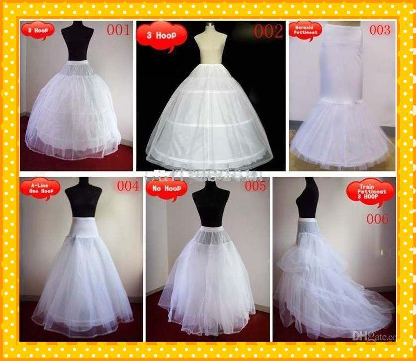 Stock 2021 Robes à billes à la ligne chaude Sirène 1 Trail Hoop Share Underkirt Petticoats Mariage Bridal Chears Petticoat pour accessoires de mariée