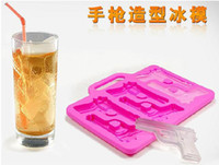 Wholesale Gun Ice Cube Trays Wholesale - Freeze - New Pistol Gun Shaped Silicone Ice Cube Tray Mold by Fred Friends Candle Soap Mould Maker