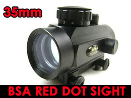 free scope red dot Canada - FREE SHIPPING-BSA 35mm tactical Red Green Dot rifle pistol Scope sight 20mm Weaver mount