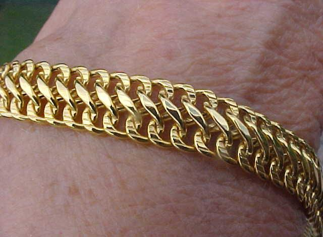 bracelet used bracelets gold mens solid