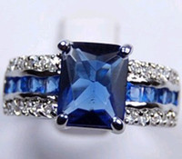Atacado Cheap AMAZING NATURAL 3.6CT SAPPHIRE 14KT OURO GEMSTONE RING