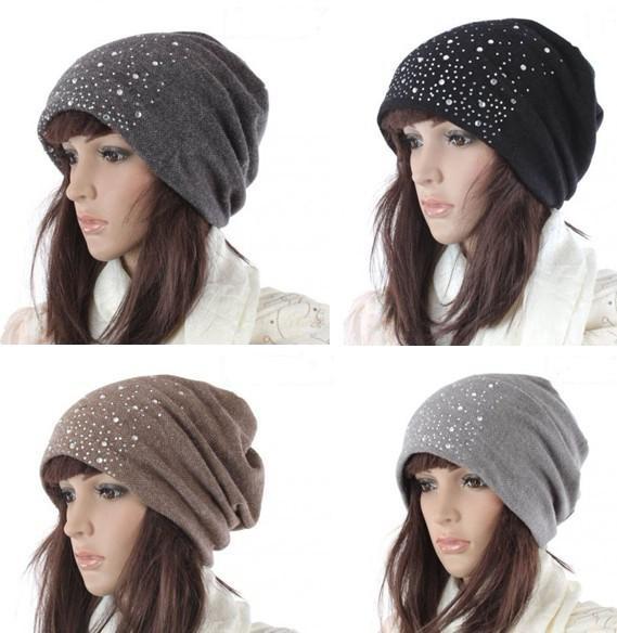5c0f2edc8bb 2019 Fashion Womens Lady Beanie Crochet Knit Beret Hat Tamhat Cap ...