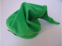 Wholesale Link Cosplay Hat - DHL 100pcs legend of zelda link hat hats cosplay costumes play cap zelda hat christmas hat