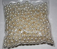 Wholesale Crafting Pearls - 500pcs 6MM Ivory Round Pearls Beads Flatback Scrapbooking Embellishment Craft DIY