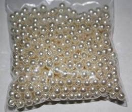 500pcs 6MM marfil perlas redondas cuentas Flatback adorno Scrapbooking artesanía DIY