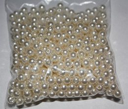 Wholesale Pearls Flatback - 500pcs 6MM Ivory Round Pearls Beads Flatback Scrapbooking Embellishment Craft DIY