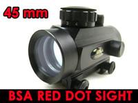 el punto rojo libera el envío al por mayor-ENVÍO GRATIS-BSA 45mm táctico Rojo / Verde pistola rifle Dot Alcance vista 20mm soporte del tejedor