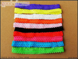 Wholesale Baby Headbands Stretch Elastic - BABY Soft Lace Headbands Stretch Elastic Headband lacy frilly hairbands Children's Hair Accessories hot sell