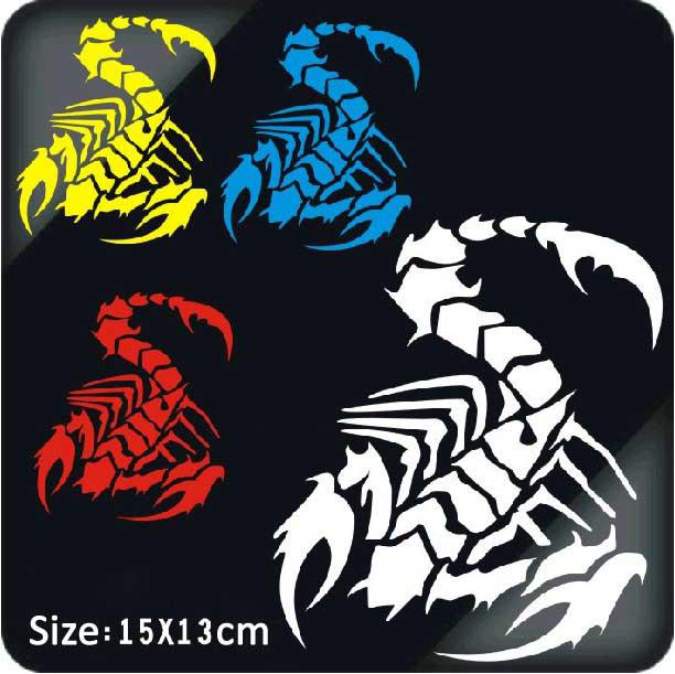 Car Sticker Scorpion Stickers Personalized Reflective - Motorcycle stickers