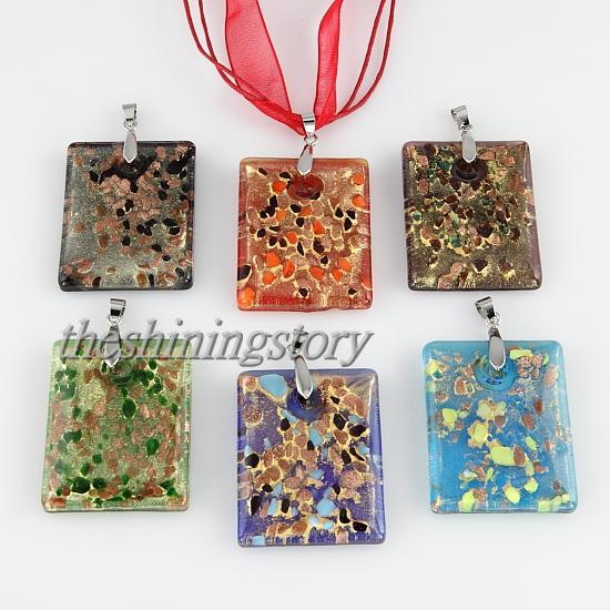 Mooie Glitter Italiaanse Venetiaanse Lampwork Blown Murano Glas Hangers voor Kettingen Sieraden Handgemaakte Goedkope China Mode Sieraden MUP101