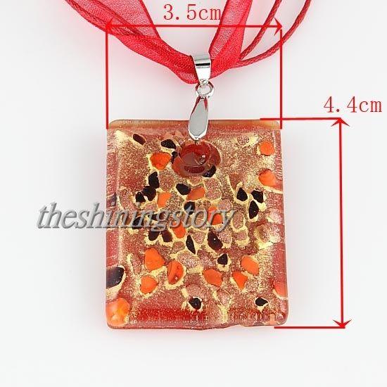 Trevlig glitter italiensk venetiansk lampor blåst murano glas hängsmycken för halsband smycken handgjorda billiga Kina mode smycken mup101
