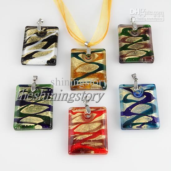 Elegant glitter murano glass lampeork handmade italy pendants for necklaces jewelry jewellery cheap china fashion jewelry MUP105