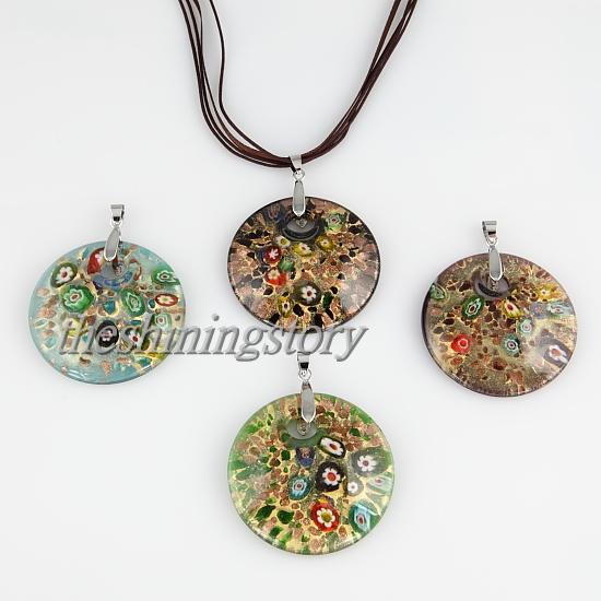 Круглые блестки миллефиори из муранского стекла в технике лэмпворк италия подвески для ожерелий бижутерия модные подвески MUP106