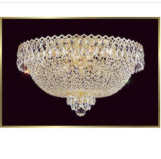 K9 Crystal Chandelier Modern Crystal Ceiling Light Flush Mount Fixture Chrome Plated Living Room Bedroom Ceiling Lamp Teardrop Chandelier Floral Chandelier