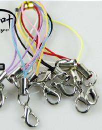 Wholesale Phone Strap Lobster Clasp - cell phone mobile straps keychain Charm Cords DIY Lariat Lanyard Lobster Clasp MP3 4 U flash disck
