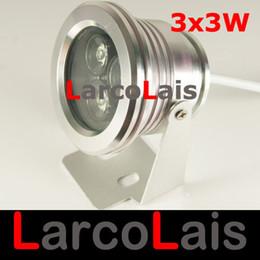 Canada 3 * 3W 9W 12V LED Lumière En Aluminium Projecteur Imperméable À L'eau Jardin Projecteur Projecteur Lampe Blanc Chaud Offre