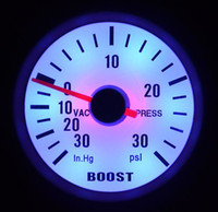 "Hot selling 2"" 52MM AUTO METER WHITE FACE BLUE LED&SILVER RIM 90 DEGREE SCALE BOOST PSI GAUGE AUTO GAUGE"