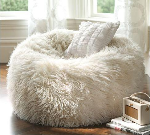 2019 Long Fur Soft Beanbag Cover Extra Elegant Lounge