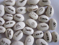 ingrosso parole di decorazione-Spedizione gratuita (2500pcs / lot) semi di fagiolo magico regalo pianta crescente parola messaggio, verde decorazione domestica